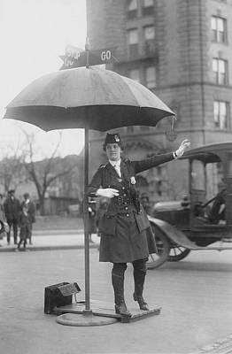 Traffic Cop In Washington D.c., Circa Art Print by Stocktrek Images
