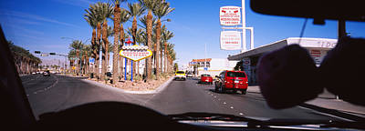 Traffic Entering Downtown, Las Vegas Art Print by Panoramic Images