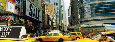 Traffic In A City, 42nd Street, Eighth Art Print by Panoramic Images