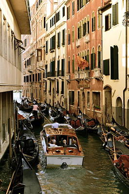 Photograph - Traffic In Venice by Gerald Hiam