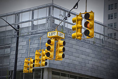 Photograph - Traffic Lights And Left Turn Signal by Randall Nyhof