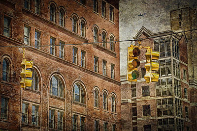 Photograph - Traffic Lights At An Urban Intersection No.0201 by Randall Nyhof