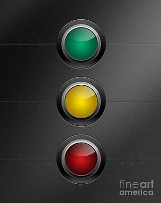 Traffic Lights Art Print by Phil Perkins