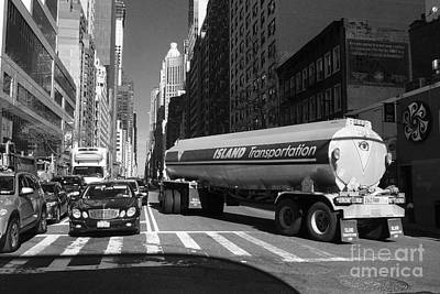 Photograph - Traffic - New York In Perspective Series by Miriam Danar