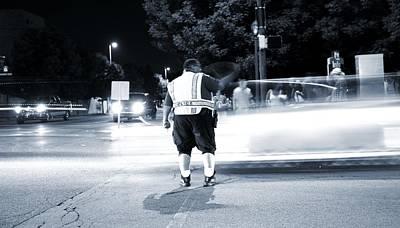 Crosswalk Photograph - Traffic Officer by Dan Sproul