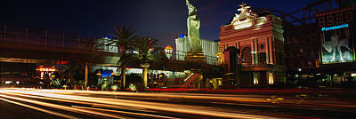 Traffic On A Road, Las Vegas, Nevada Art Print by Panoramic Images