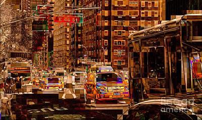 Photograph - Traffic On 46th by Miriam Danar