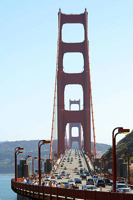 America Photograph - Traffic On Golden Gate Bridge by Celso Diniz