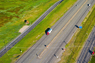 80 Photograph - Traffic On Highway, Interstate 80, Park by Panoramic Images