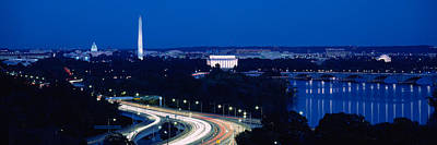 Washington Monument Photograph - Traffic On The Road, Washington by Panoramic Images