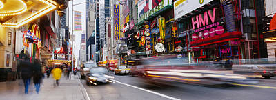 Traffic On The Street, 42nd Street Art Print by Panoramic Images