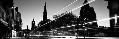 Traffic On The Street, Princes Street Art Print by Panoramic Images