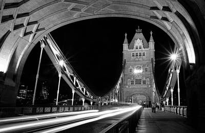 Photograph - Traffic On The Tower Bridge by Daniel Woodrum