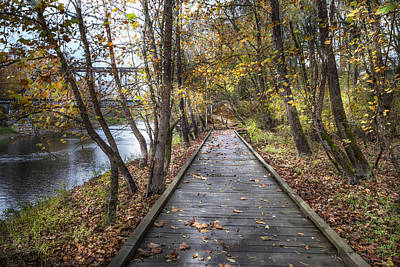 Trail At The River Print by Debra and Dave Vanderlaan