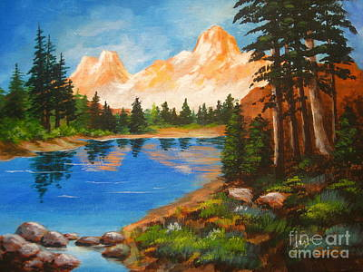 Painting - Trail Head Meadow by Shasta Eone