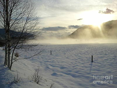 Trail In Snow Print by Graham Foulkes