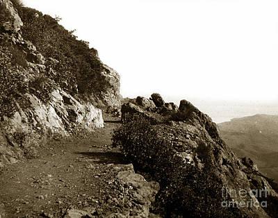 Art Print featuring the photograph Trail On Mt. Tamalpais Marin Co California Circa 1902  by California Views Mr Pat Hathaway Archives