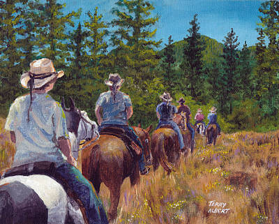 Painting - Trail Ride by Terry Albert