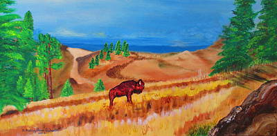 Buffalo Extinction Painting - Monarch Of The Plains by Ashley Goforth