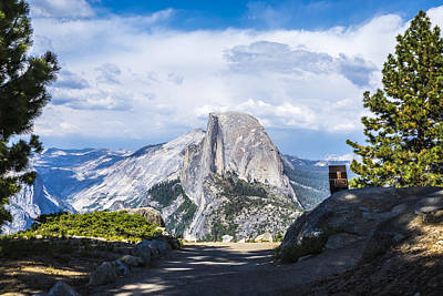 Magnificent Mountain Image Photograph - Trail To Half Dome by Joseph S Giacalone