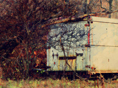 Trailer In The Woods Art Print