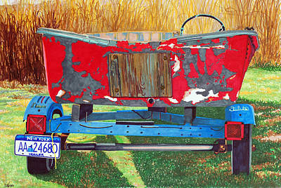 Amagansett Painting - Trailered And Ready by Lorraine LaVista