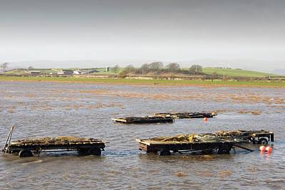 Floods Photograph - Trailers Covered By Flood Water by Ashley Cooper