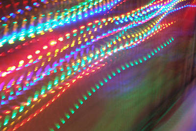 Photograph - Trailing Xmas Lights by David Pantuso