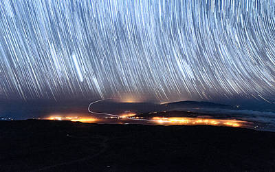 Photograph - Trails Of Stars Over Big Island by Jason Chu