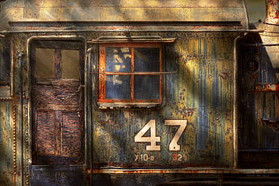 Photograph - Train - A Door With Character by Mike Savad