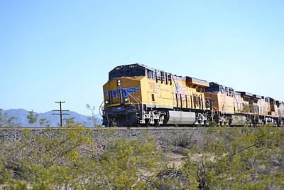 Photograph - Train Across The Desert - Union Pacific by RD Erickson