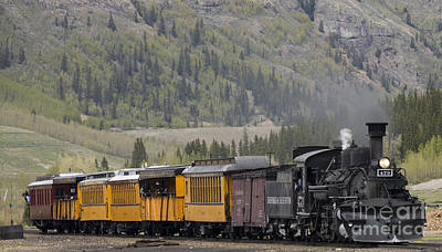 Photograph - Train Arriving In Silverton by Tim Mulina