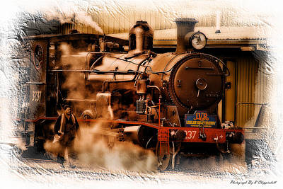 Photograph - Train Art 3237 by Kevin Chippindall