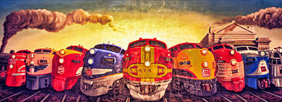 Photograph - Train Art At Union Station by Sennie Pierson