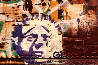 Graffitti Photograph - Train Art Statue Of Liberty by Carol Leigh