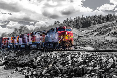 Transportation Royalty-Free and Rights-Managed Images - Train at Chambers Bay by Mike Centioli