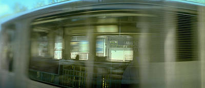 Evanston Photograph - Train At Railroad Station Platform by Panoramic Images