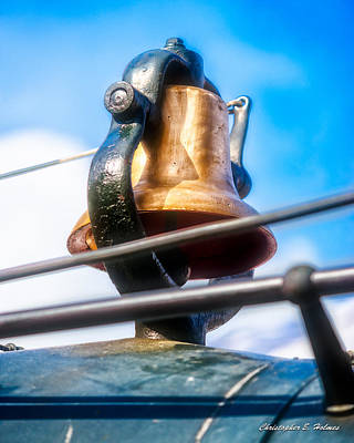 Photograph - Train Bell by Christopher Holmes