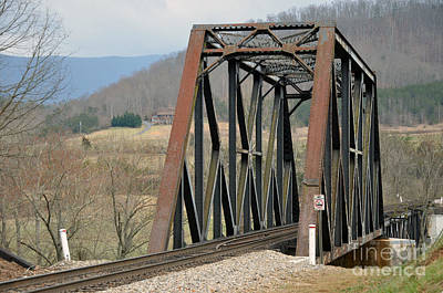 Natural Bridge Station Photograph - Train Bridge by Brenda Dorman