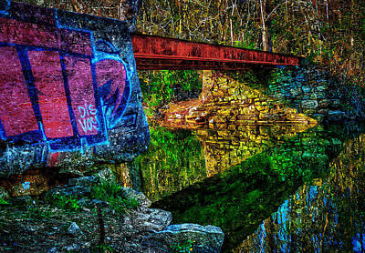 Painting - Train Bridge by Rick Mosher