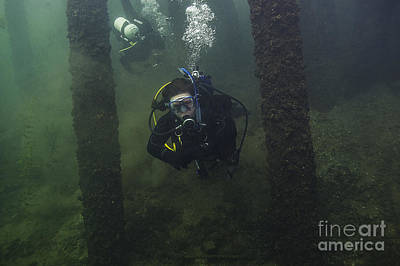 Photograph - Train Bridge Scuba Dive by JT Lewis