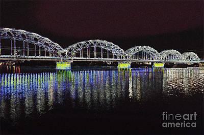 Photograph - Train Bridge by Steven Liveoak