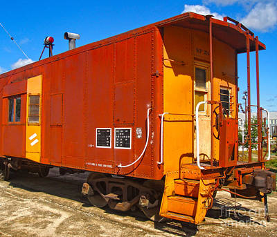 Photograph - Train Caboose - 02 by Gregory Dyer