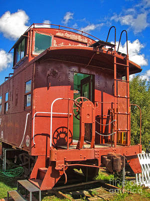 Photograph - Train Caboose by Gregory Dyer