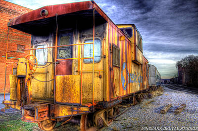 Train Caboose Art Print by Jonny D