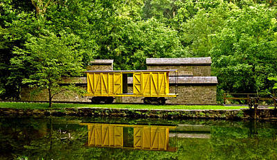 Photograph - Train Car And Graining Mill. Hagley Museum. by Chris  Kusik