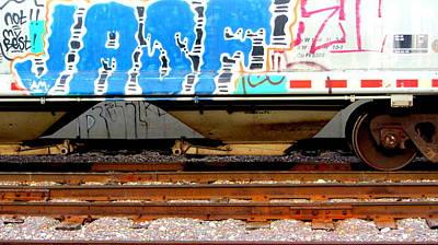 Photograph - Train Car Graffiti 1 by Anita Burgermeister