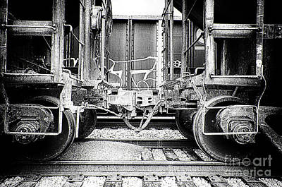 Photograph - Train Cars Coupling by Danny Hooks