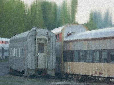 Mixed Media - Train Cars by Dennis Buckman