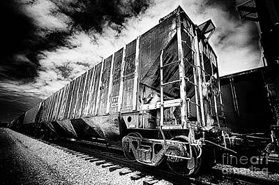 Photograph - Train Cars On Railroad Tracks by Danny Hooks